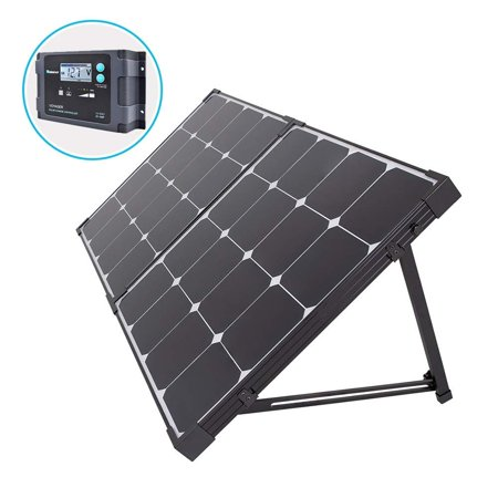 Renogy 100 Watt Eclipse Monocrystalline Portable Solar Suitcase with Voyager Waterproof Charge