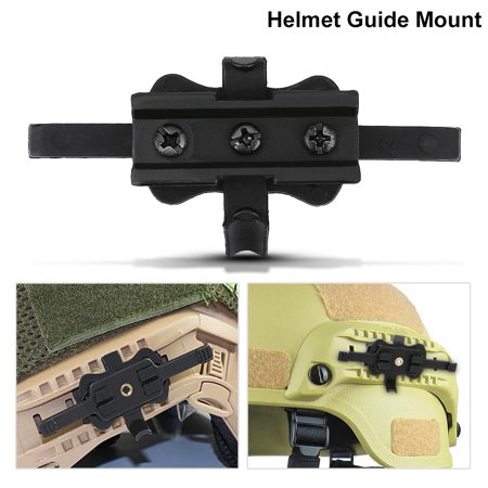 1 Set Helmet Side Rail Mount Guide Camera Holder Adapter Fast Helmets Outdoor Accessories Tools New Pottery & Glass