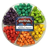 Gourmet Rainbow Popcorn Gift Tray 6 Section by Its Delish