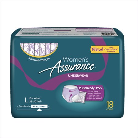 Assurance Incontinence Underwear For Women  Maximum  L  18 Ct