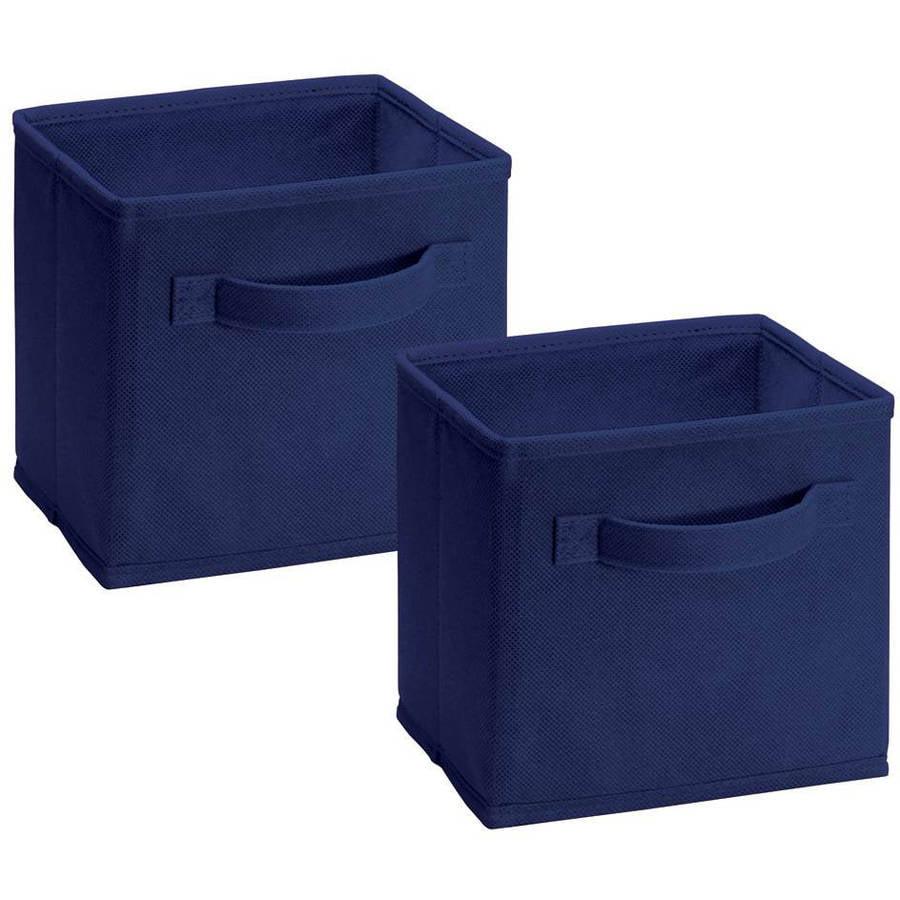 ClosetMaid Mini Fabric Drawer, Blue, 2pk