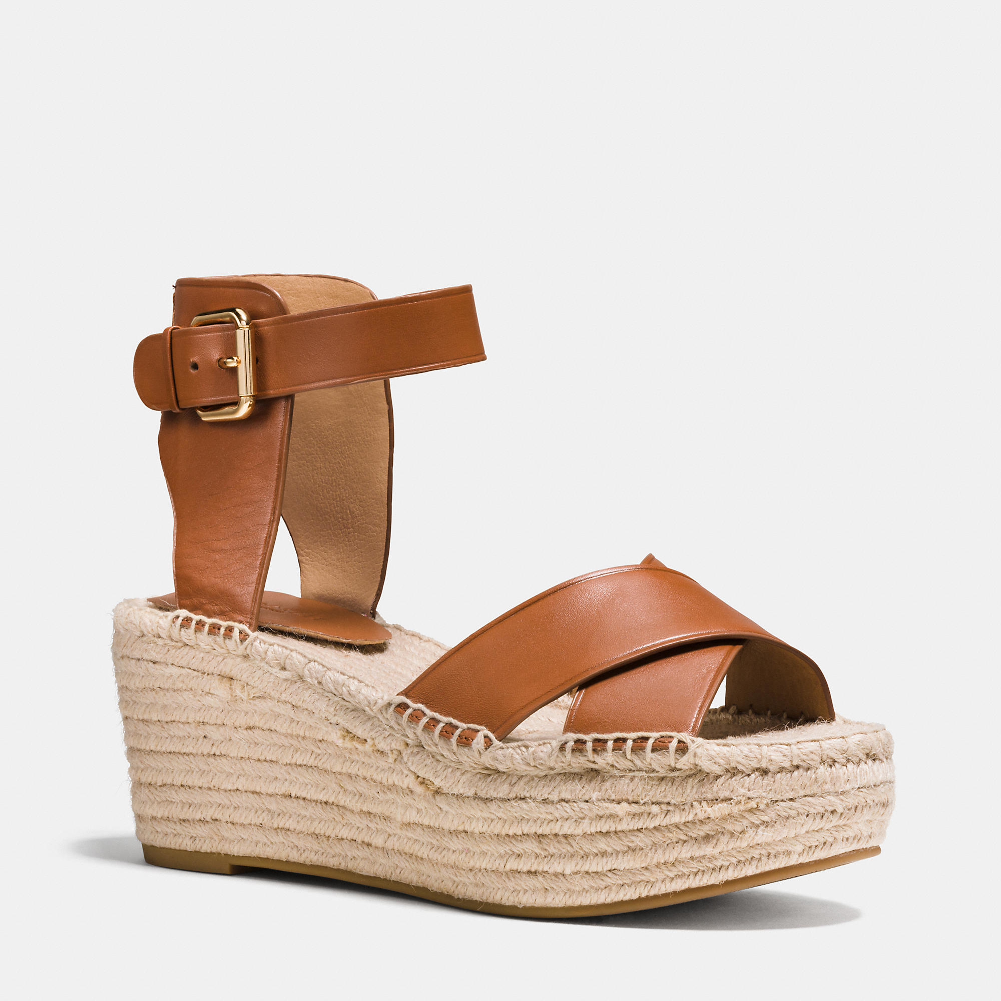 view sale online Coach Leather Espadrille Wedges outlet best wholesale cheap price from china cheap discount sale 5iQNwggee3