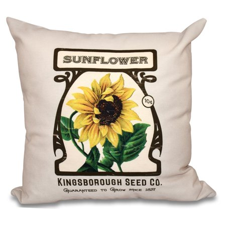 E By Design Botanical Blooms Sunflower Decorative Pillow Walmart Awesome Sunflower Decorative Pillows