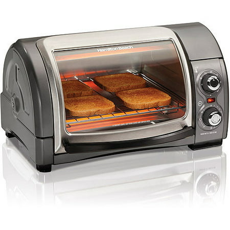 Hamilton Beach Easy Reach 4 Slice Toaster Oven | Model# 31334 on