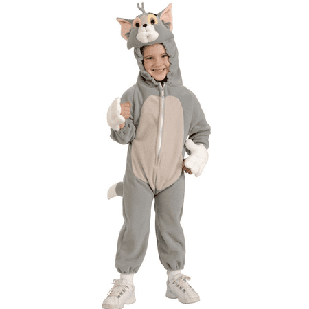 DELUXE TOM Costume -  GREY   SML 4-6 fits 3-5 yrs - Tom Halloween
