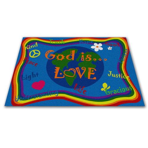 Kid Carpet God Is Love Area Rug