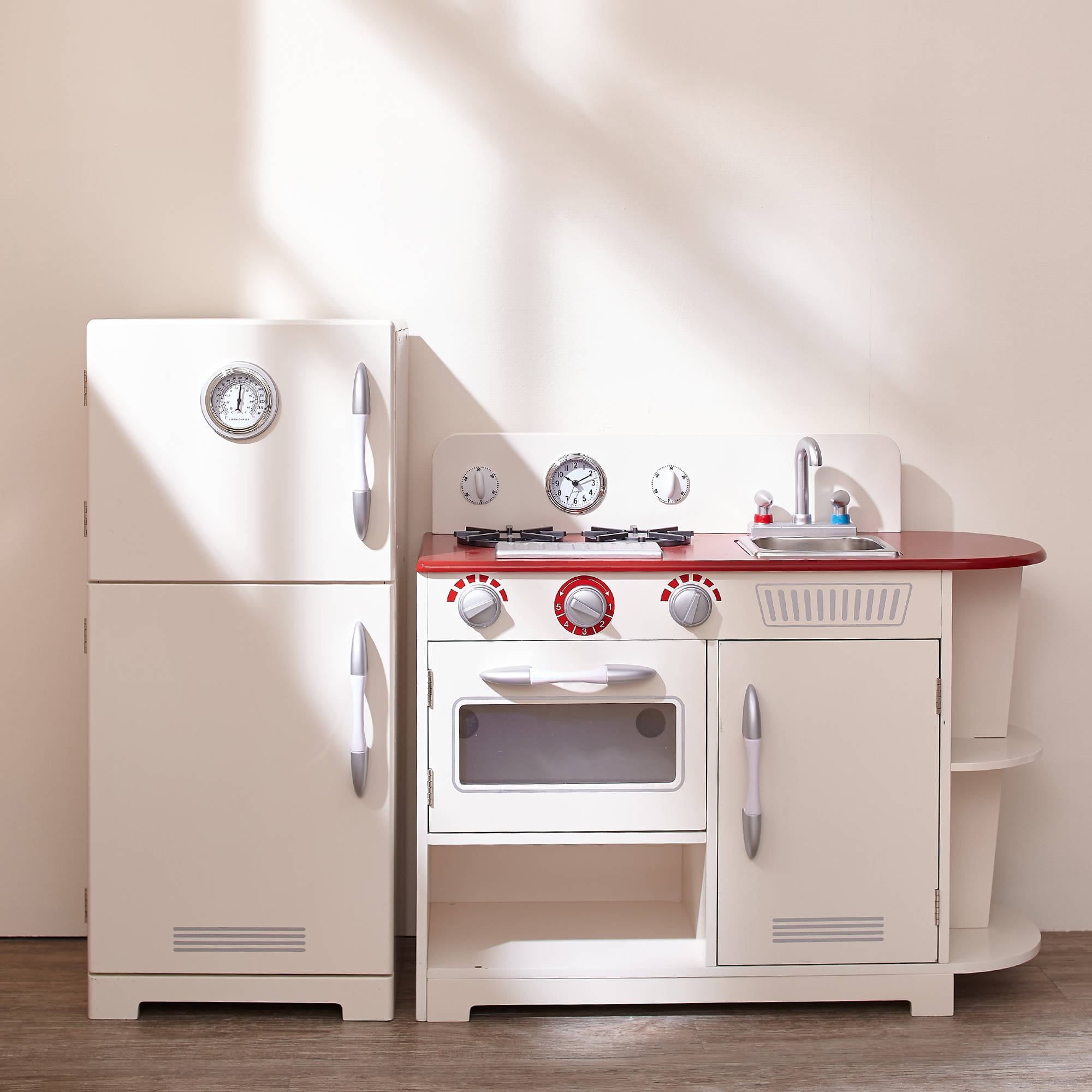 Teamson Kids   Little Chef Amsterdam Retro Play Kitchen   White    Walmart.com