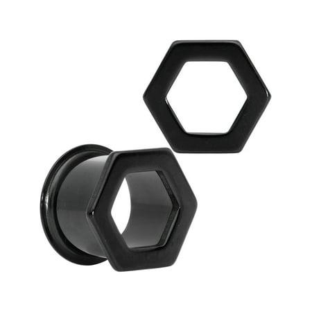 Body Candy Unisex 2Pc Black PVD Steel 1/2