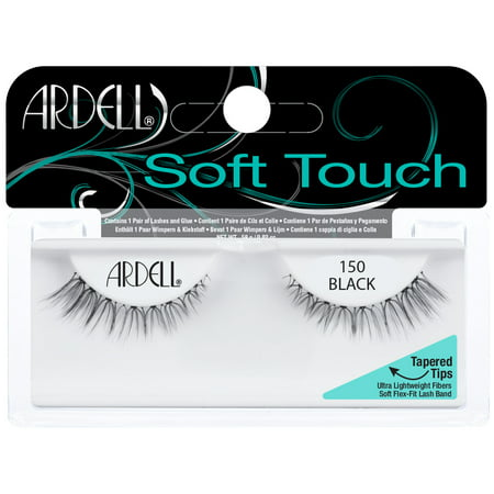 Ardell Soft Touch False Eyelashes, Black, 150, 1