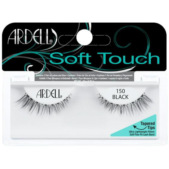 5742b4a7d13 Ardell Soft Touch False Eyelashes, Black, 150, 1 Pair - Walmart.com