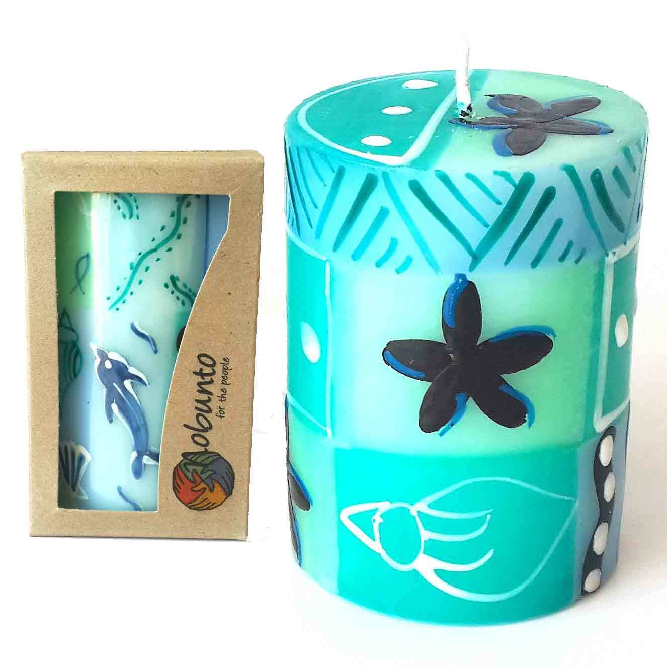 Global Crafts Single Boxed Handmade Pillar Candle (South Africa)