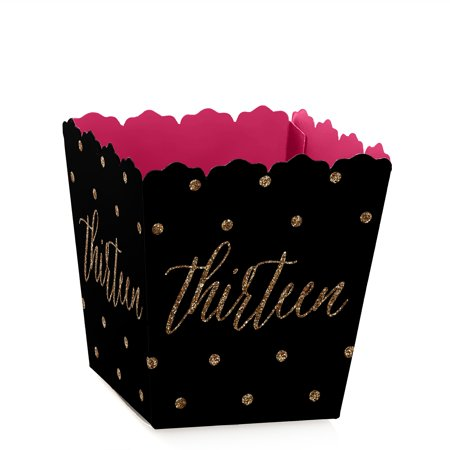 Chic 13th Birthday - Party Mini Favor Boxes - Thirteenth Birthday Party Treat Candy Boxes - Set of 12 (13th Birthday Party)