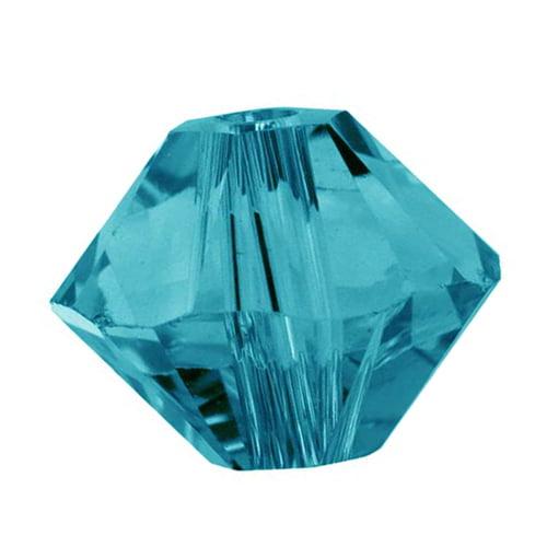 Swarovski Crystal, #5328 Bicone Beads 3mm, 25 Pieces, Indicolite