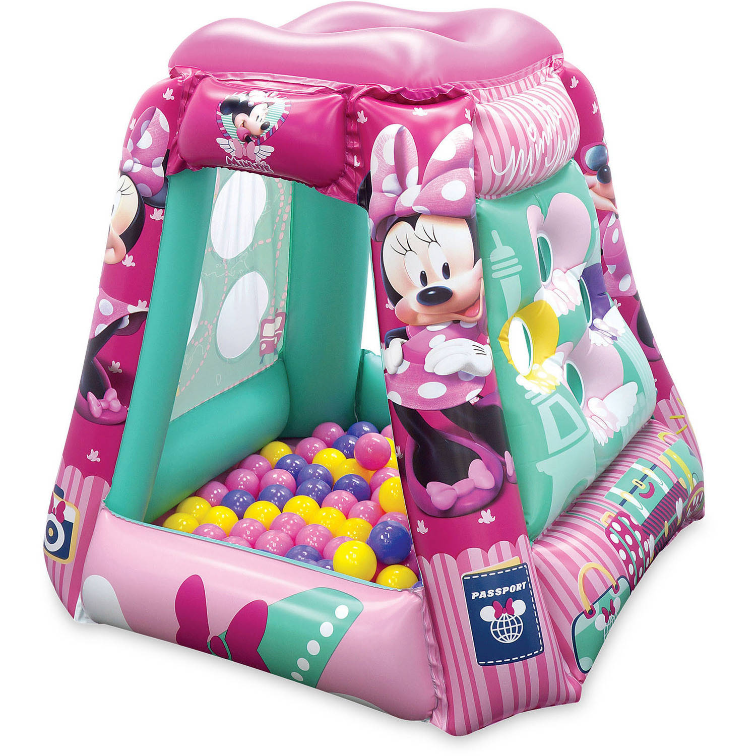 Inflatable playland with 20 soft flex balls asst
