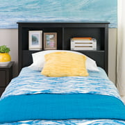 Prepac Furniture Brisbane Storage Headboard, Twin, Black