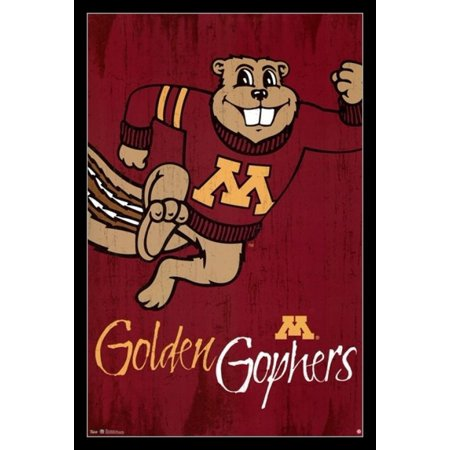 University of Minnesota - Logo 13 Laminated & Framed Poster Print (24 x 36)