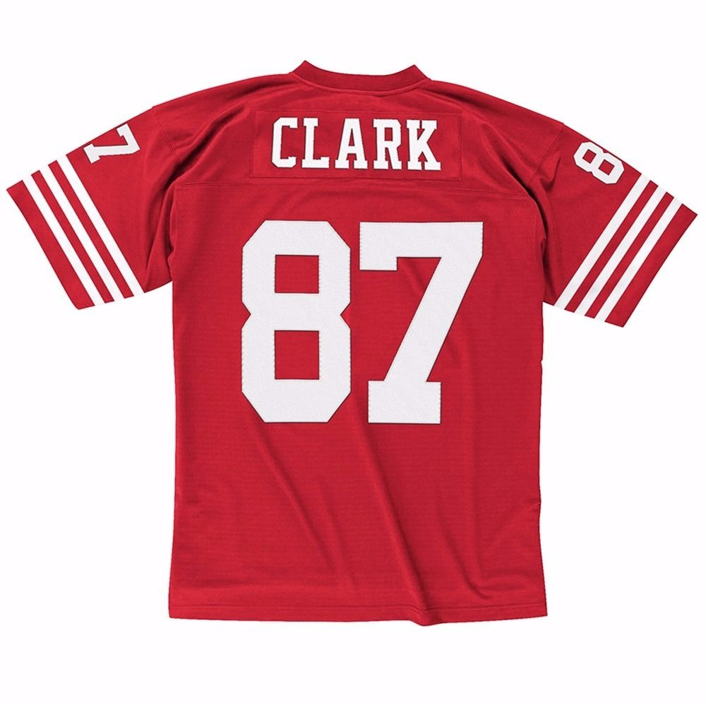 Dwight Clark San Francisco 49ers NFL Mitchell & Ness Men's Red Official Throwback Retro Jersey