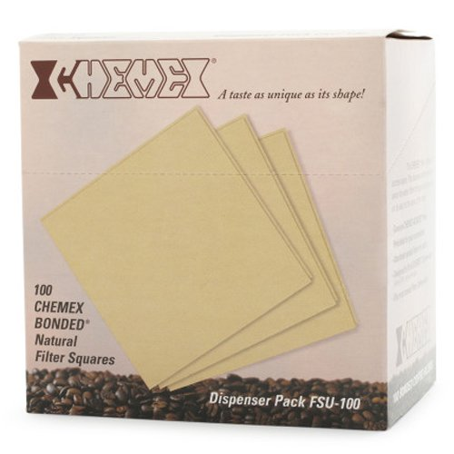 Square 5 Pack Chemex Bonded Filter 100 ct Exclusive Packaging