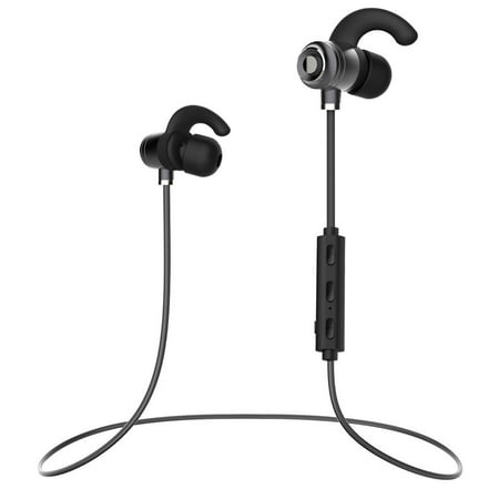 Samsung Galaxy S Bluetooth, Wireless Headphones Bluetooth 4.1 Earbuds with Mic , Sweat Proof Earphones for Gym Running Workout 9 Hour Battery Noise Cancelling Headsets by Ixir for $<!---->