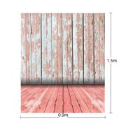 3x5ft Vinyl Retro Red Wooden Photography Backdrop Floor Wall Background For Camera Studio Photo Christmas Props
