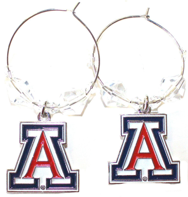 NCAA Officially Licensed Arizona Wildcats Beaded Hoop Earrings
