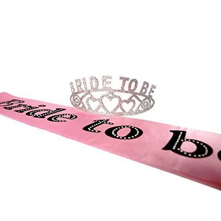 Bride To Be Glitter Tiara and Bride To Be Party Sash - Sweet Sixteen Sash And Tiara