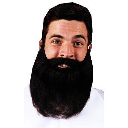 Morris Costumes Mens Mustache Beard Brown 8In Halloween Accessory - Beard And Mustache Costume