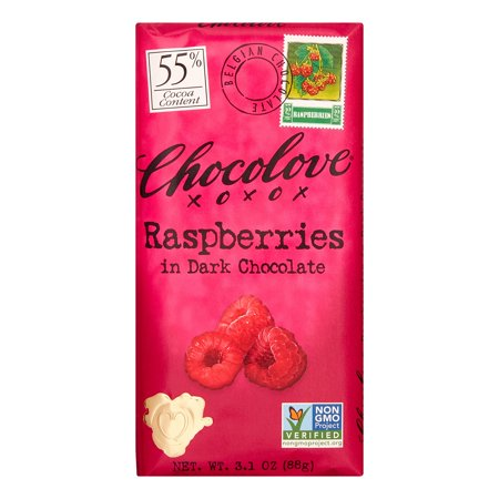 - Chocolove Dark Chocolate Bar with Raspberries 3.1 oz