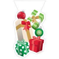 Club Pack of 240 Green and Red Christmas Presents Favor Bags 9""