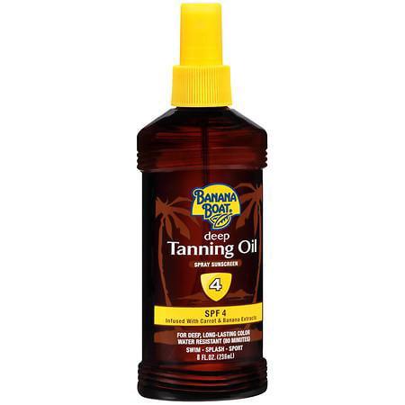 Banana Boat Deep Tanning Oil Spray Sunscreen, SPF 4 8.0 f...