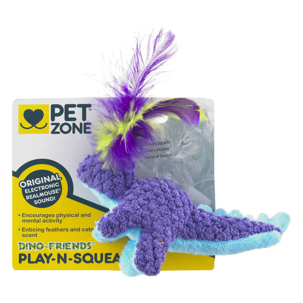 Pet Zone Dino Friends Plush Cat Toy