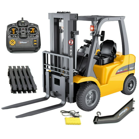 - Top Race JUMBO Remote control forklift 13 Inch Tall, 8 Channel Full Functional Professional RC Forklift Construction Toys, High Powered Motors, 1:10 Scale - Heavy Metal - (TR-216)