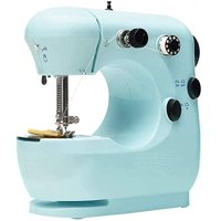 Mini Electric Sewing Machine, Portable Household Sewing Machine for Geginners, Free-Arm Crafting Mending Machine, Hand Sewing Machine for Beginner Tailors