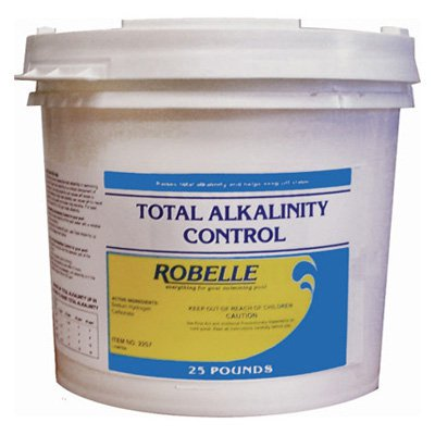 Robelle total alkalinity control Swimming pool high alkalinity
