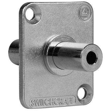 Switchcraft EH35MM2PKG Stereo 3.5mm Feedthru Jack Connector Nickel with 4-40 Screws