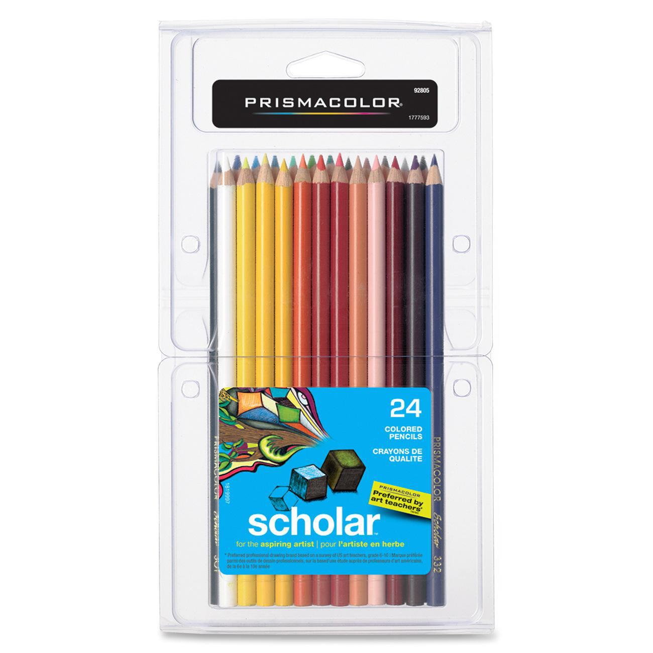 Prismacolor Scholar Colored Pencils, 24 Assorted Colors