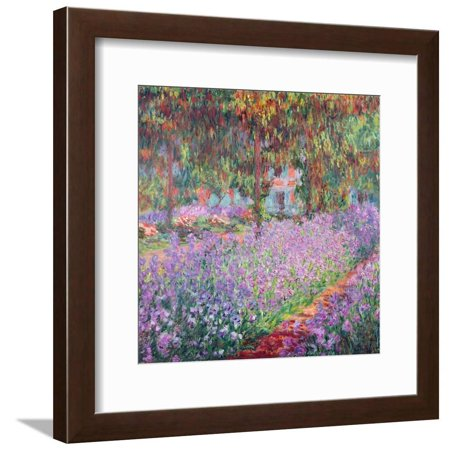Garden Floral Print (Scenic Floral Flowers The Artist's Garden At Giverny, c.1900 Scenic Floral Flowers Framed Print Wall Art By Claude)