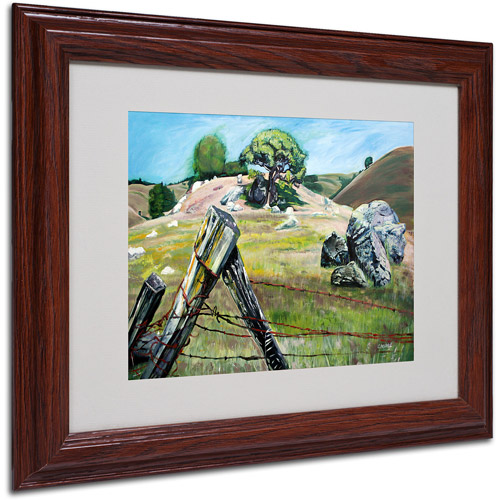 """Trademark Fine Art """"Nicasio Fence Post"""" Canvas Art by Coleen Proppe, Wood Frame"""