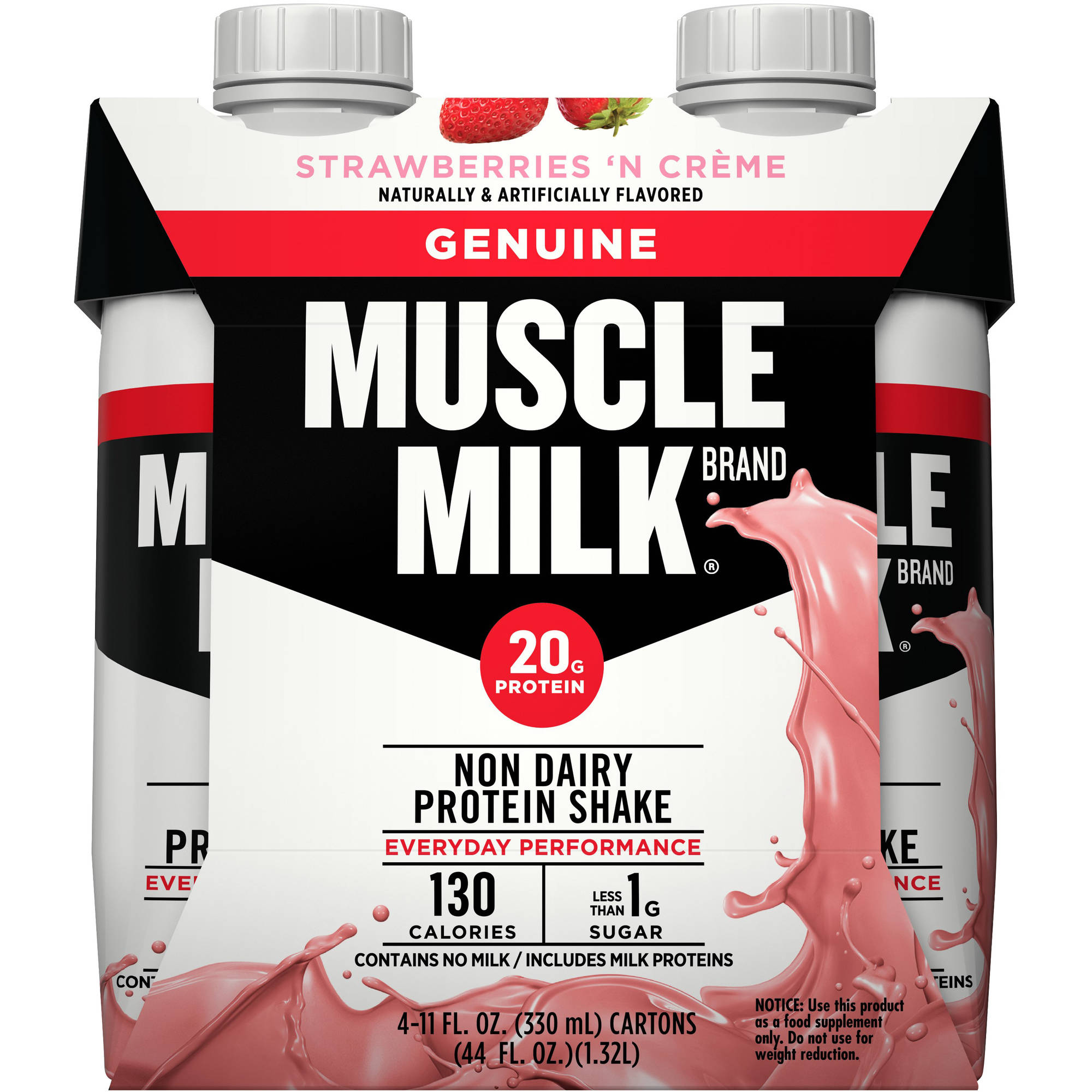 Muscle Milk: Genuine Strawberries 'n Creme Muscle Milk Nutritional Shake, 22 Oz