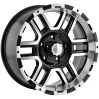 "Ion 179 17x8 5x5.5"" +10mm Black/Machined Wheel Rim 17"" Inch"
