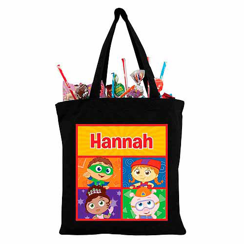 Personalized Super Why! Super Readers Black Trick-or-Treat Bag
