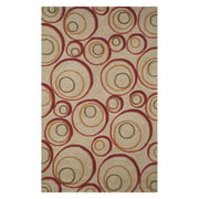 Liora Manne Spello 1936/24 Hoops Red Area Rug 5 Feet X 7 Feet 6 Inches