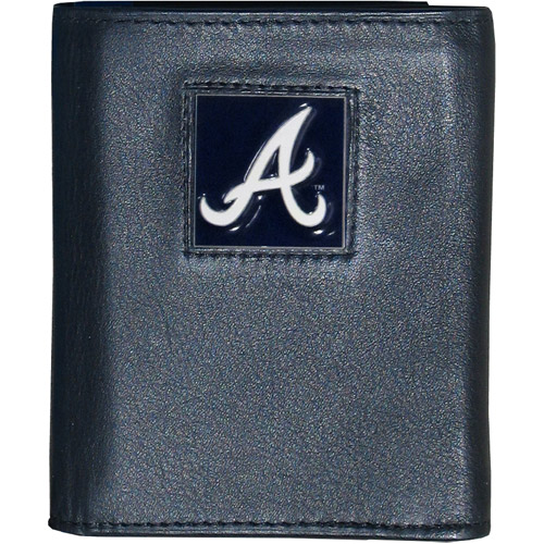 Atlanta Braves Official MLB Leather Tri-fold Wallet by Siskiyou 990281