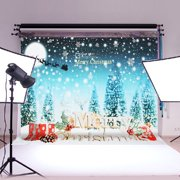 7x5FT Merry Christmas Gift & Snow Vinyl Photography Background Photo Studio Backdrop Screen Props