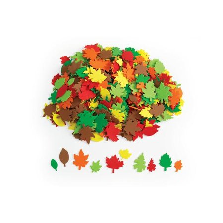 Colorations Colorful Leaf Foam Shapes   500 Pieces  Item   Foamleaf