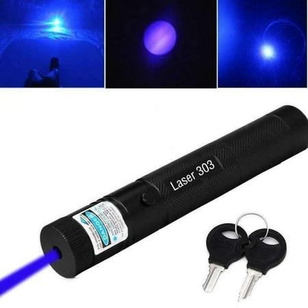 50 Miles High Power Laser Pointer Pen Blue 532nm Beam Light (Battery Not