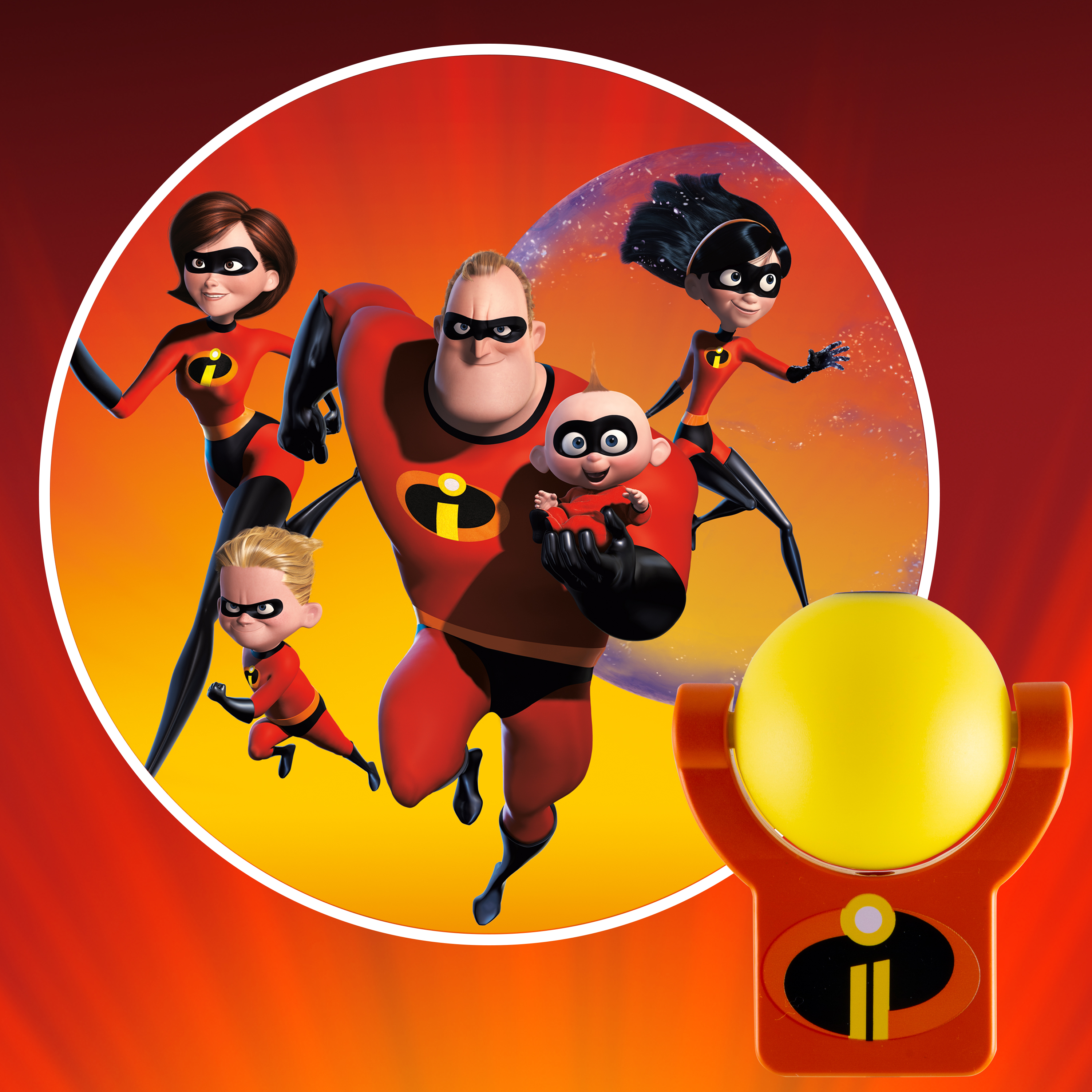 Projectables Disney/Pixar Incredibles 2 LED Plug-In Night Light, 41247