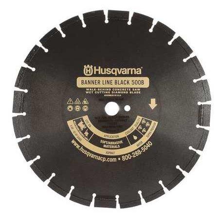 HUSQVARNA Black500B-R-14 Diamond Saw Blade,Masonry,14 in. Dia.