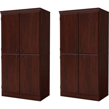 South Shore Morgan 4-Door Storage Cabinet, Set of 2, (Mix and Match) Standard Four Door Tall Cabinet