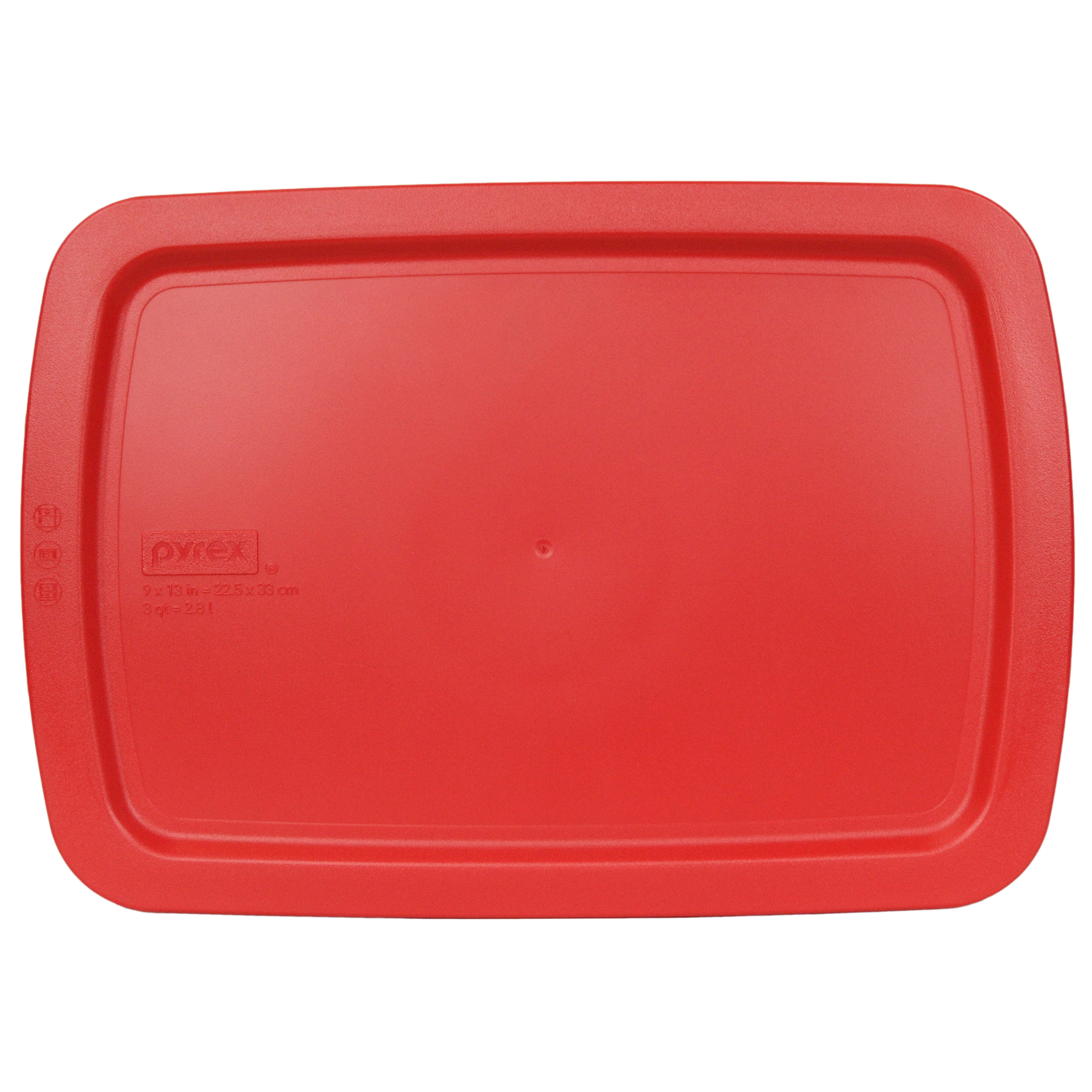 Pyrex Replacement Lid C-233-PC Red Plastic Rectangle Cover for Pyrex C-233 3-Qt Glass Dish (Sold Separately)
